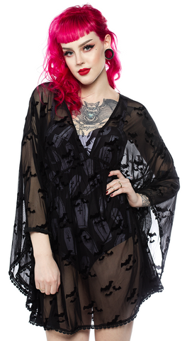 Sourpuss Bat Cloud Swim Cover Up