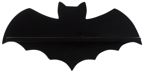Sourpuss Bat Shelf Black