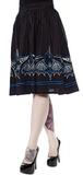 Sourpuss Batty Pintripe Skirt Black / Blue