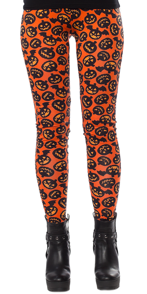 Sourpuss Batty Pumpkins Leggings