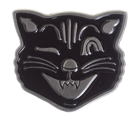 Sourpuss Jinx Face Enamel Pin