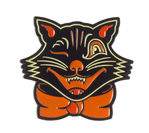 Sourpuss Black Cat Pin