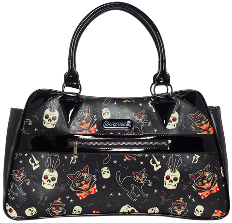 Sourpuss Black Cats Camille Purse