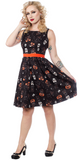 Sourpuss Black Cats Shift Dress