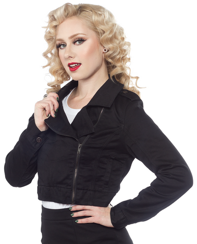 Sourpuss Moto Jacket Black