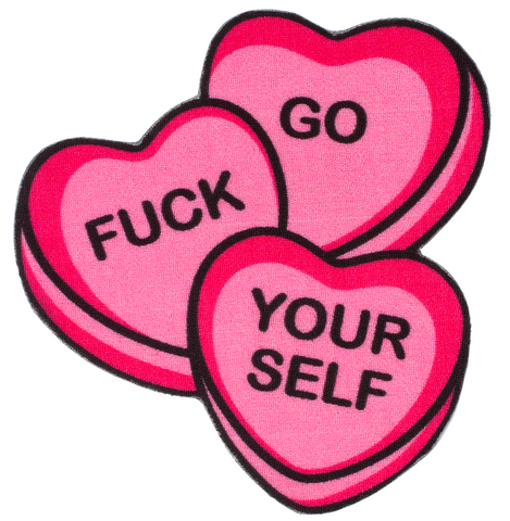 Sourpuss Candy Hearts Rug