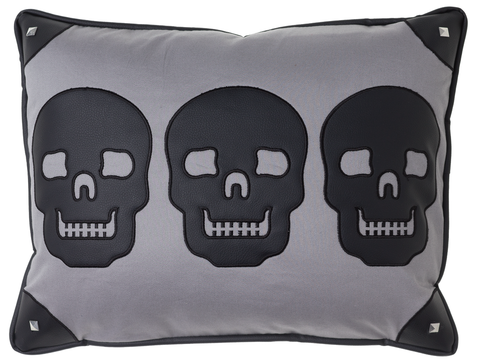 Sourpuss Canvas Skulls Pillow