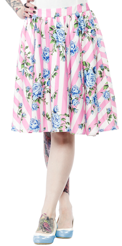 Sourpuss Carousel Roses Sweets Skirt