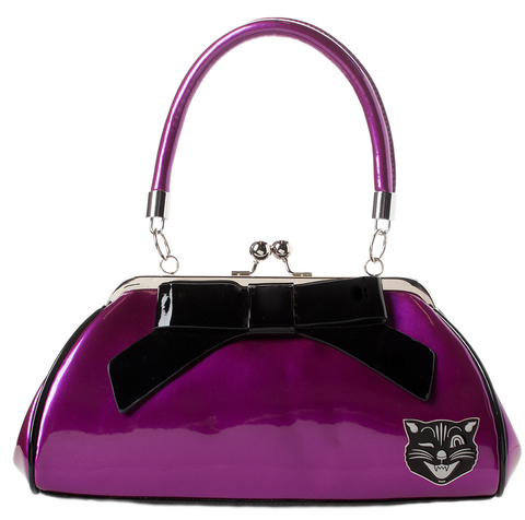Sourpuss Jinx Floozy Purse Purple