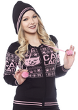 Sourpuss Cat Lady Knit Hoodie