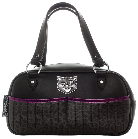Sourpuss Jinx Tessa Purse Black / Purple