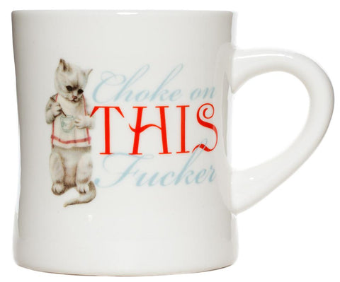 Sourpuss Choke On This Diner Mug