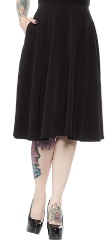 Sourpuss Circle Skirt Black