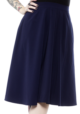 Sourpuss Circle Skirt Blue