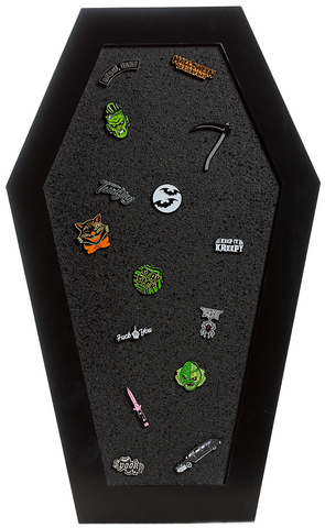 Sourpuss Coffin Cork Board Black