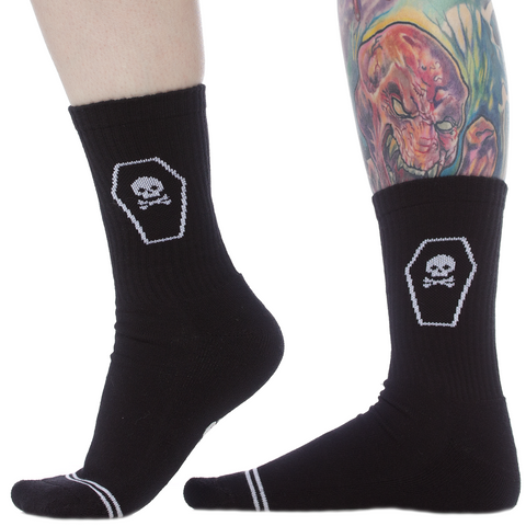 Sourpuss Coffin Ladies Crew Socks