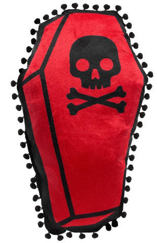 Sourpuss Coffin Shaped Pillow