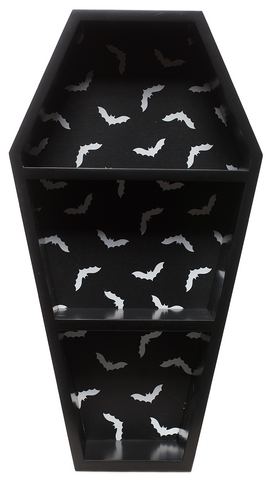 Sourpuss Bat Print Coffin Shelf