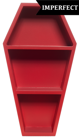 Sourpuss Scratch & Dent Coffin Shelf Red