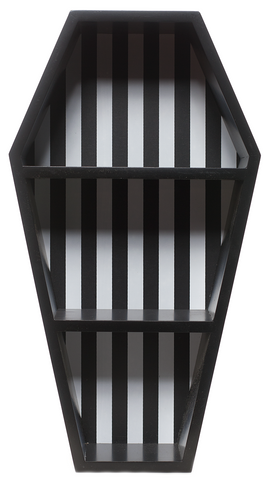 Sourpuss Striped Coffin Shelf