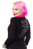 Sourpuss Crawling Panther Cropped Cardigan