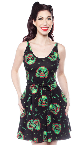 Sourpuss Creature Cami Skater Dress