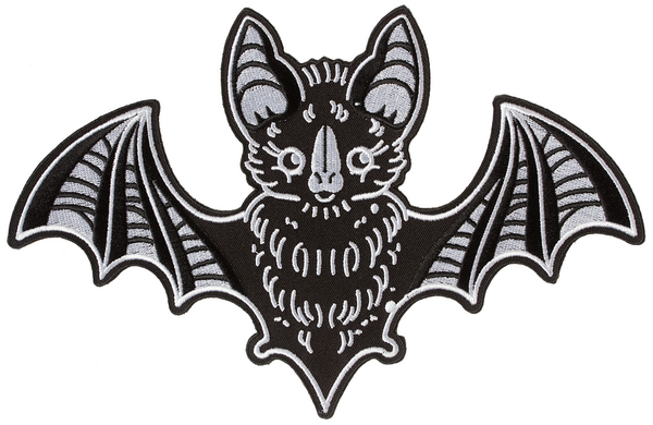 Sourpuss Creep Heart Bat Oversized Patch