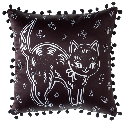 Sourpuss Creep Heart Cat Pillow