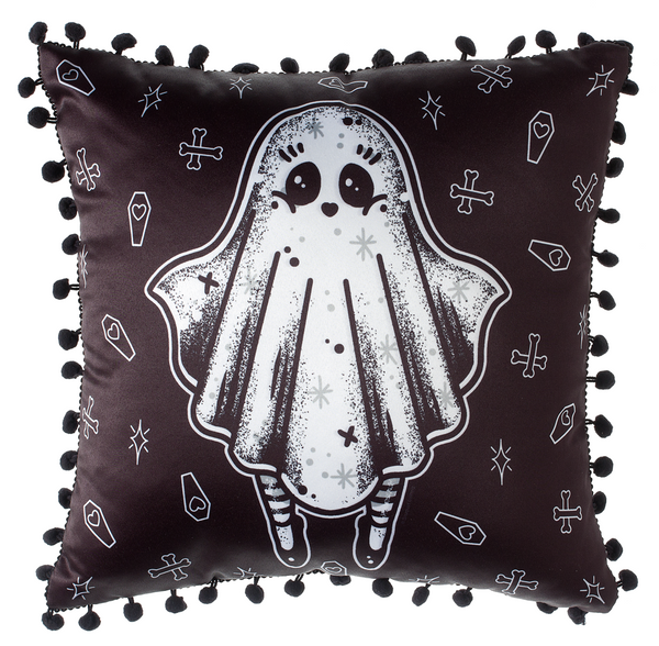 Sourpuss Creep Heart Ghost Pillow