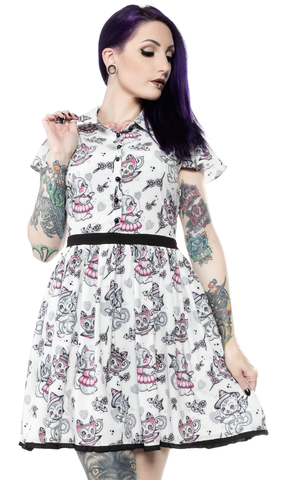 Sourpuss Creep Heart Lydia Dress