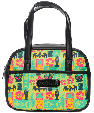 Sourpuss Creepy Tiki Mini Bowler Purse