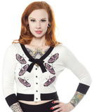 Sourpuss Bow Cardigan Death Moth