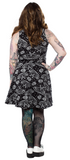 Sourpuss Death Moth Skater Dress