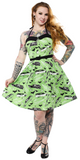 Sourpuss Death Cab Spooksville Dress Green