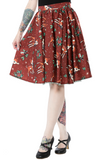 Sourpuss Deer Me Sweets Skirt  Cinamon