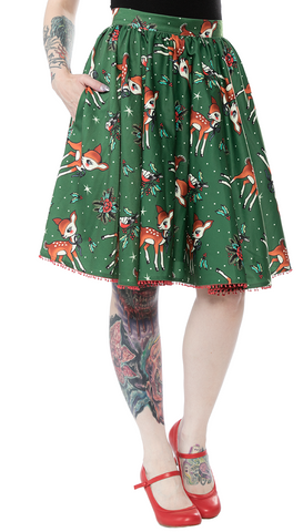 Sourpuss Deer Me Sweets Skirt Pine