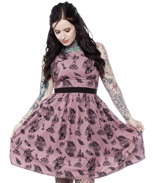 Sourpuss Die In Grace Shift Dress