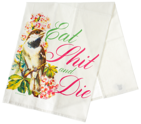 Sourpuss Die Dish Towel