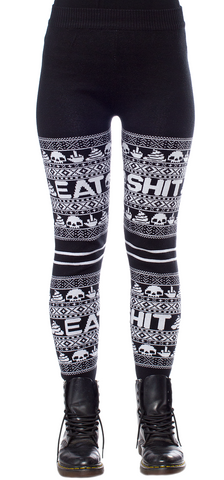 Sourpuss Eat Sh*t Knit Leggings
