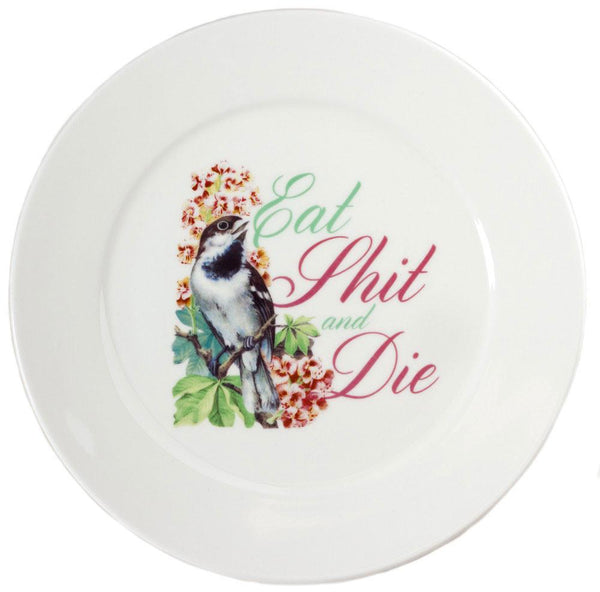 Sourpuss Eat Shit Dinner Plate