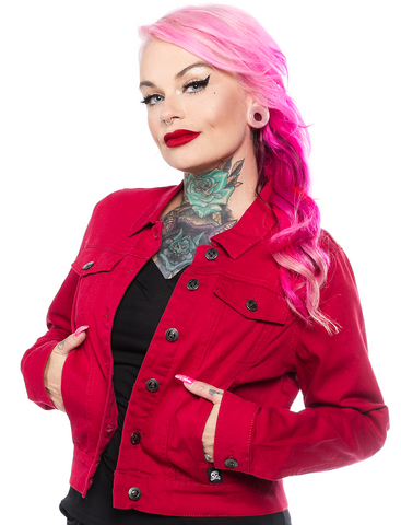 Sourpuss Essential Jacket Burgundy