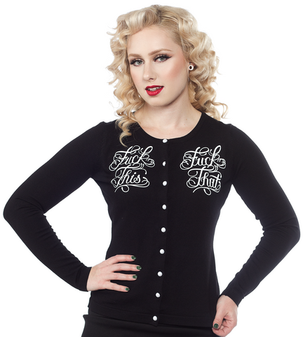 Sourpuss F*ck This Cardigan