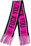 Sourpuss F*Ck You Knit Scarf Pink