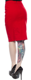 Sourpuss Fancy Pencil Skirt Red