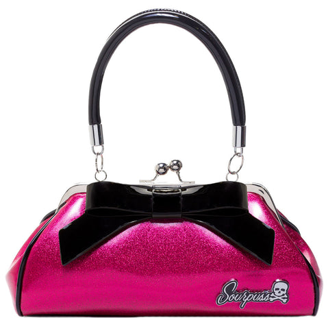 Sourpuss Glitter Floozy Purse Hot Pink