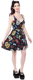 Sourpuss Freak Show Cami Skater Dress