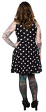 Sourpuss Ghost With The Most Keyhole Skater Dress