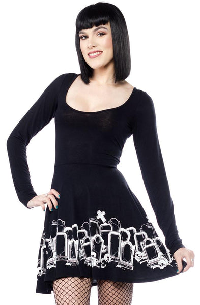 Sourpuss Grave Digger Skater Dress