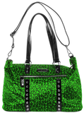 Soupuss Leopard Leda Travel Bag Green