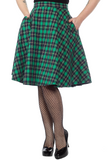 Sourpuss Plaid Bonnie Skirt Green